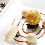 """Ресторант """"Космос""""""""Седмица на Авторската кухня"""" - 17-23 ОктомвриДесертДесерт """"Юпитер"""" - карамел, ванилия, крем дърво дъб, шипки, сушени кайсии, коняк, сладолед от кайсиеви костилки, кръмб шоколадВижте цялото меню ТУКЗа резервации: 0888 200 700"""