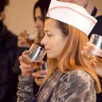Участниците в курса имаха възможност да опитат финния и деликатен Hennessy Fine de Cognac, който чудесно се съчета с десертите, които направиха.