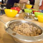 Първата рецепта беше за хляб от лимец с цели зърна лимец, който преминава през бавна ферментация на стайна температура.