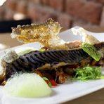 Предястие | Starter Пролетна плакия със скумрия, маслини и туршия от орехиSpring plakia - mackerel, olivea and pickled hazelnuts