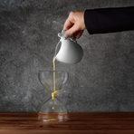 """Сабайон с бели трюфели, поднесен с Gramona Enoteca 2001.Изборът на вино беше """"развеждащ"""" вкусовете, но точно по този начин соленият вкус съчетан с глътка вино се разгръщаше в префектен баланс."""