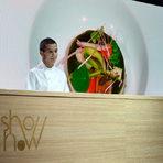Дойде ред за салатата за вечерта, която беше приготвена от Симеон Петков от Regis et Jacques Marcon, Франция. Повече за неговото ястие може да видите тук.