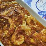 Основното ястие беше старата гръцка класика гаридес саганаки - скариди със сирене, домашен сос и узо, запечени на фурна. За целта са били купени и изчистени 15 кг. скариди. 427 броя, ако трябва да сме по-точни. Баланс, текстура, вкус - всичко в това ястие върна най-хубавите спомени от морска Гърция. Розето F2F каберне совиньон и марселан партнира достойно на сладостта на скаридите и киселинността на доматения сос.