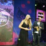 """Първата награда беше в категория """"Дебют"""". Наградата връчи Моника Стефанова, съосновател на агенция XactWay."""