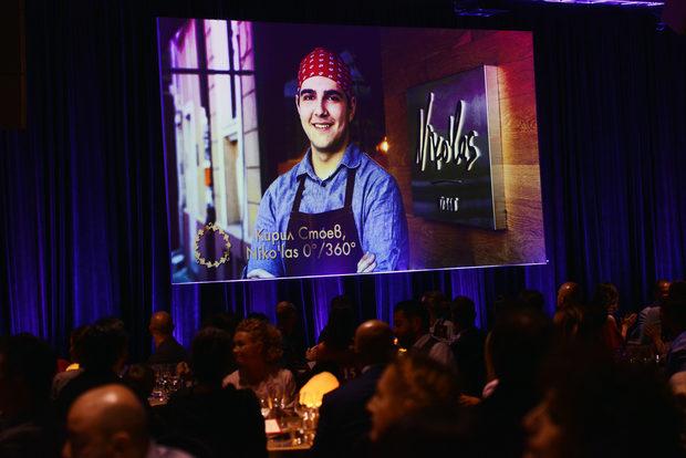 """Втората награда за вечерта беше в категория """"Млад готвач"""", която се организира съвместно с HRC Culinary Academy и Кариери. Победителят е Кирил Стоев, който работи в ресторант Niko'las 0/360."""