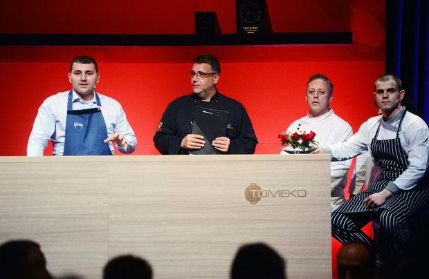Ястието посветено на обонянието беше съпроводено от авторски коктейл Beluga Apple Dream, приготвен от Димитър Димитров, бар мениджър на бар By The Way.