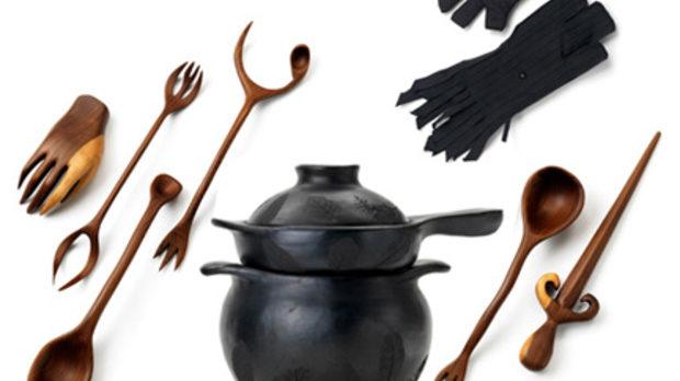 Кухненските и вещерските принадлежности винаги са били сходни (тези са дело на гениалния дизайнер Торд Бунтье)