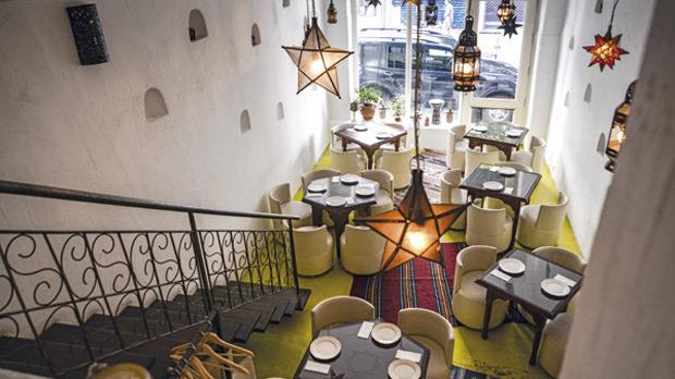 Интериорът на ресторант Anette