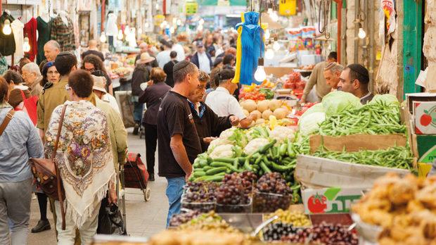 На пазарите на Израел Средиземноморието среща арабския свят.