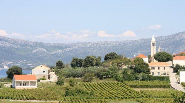 Изглед от изба Попич на о. Корчула, Хърватия