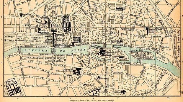 Карта на Париж през 18 век