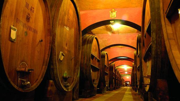 """""""Катедралата"""" - най-високата изба за отлежаване на виното във """"Фонтанафреда"""""""