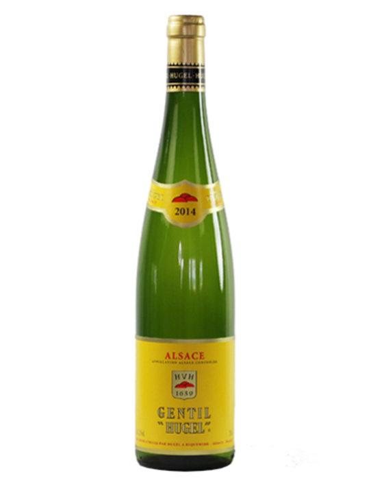 """Hugel Gentil AOC 2017Hugel Gentil перфектно ни въвежда в Елзаските вина, тъй като съчетава в себе си качествата на всички бели сортове от региона. Това вино възражда древната елзаска традиция, според която вината блендирани от благородни сортове грозде са били наричани """"Gentil"""". """"Жанти"""" на изба Хюгел е бленд от 6 сорта. Носи пивкия, пикантен вкус на сорта гевюрцтраминер, тялото на пино гри, финесът на сорта ризлинг, плодовата сочност на мускат и освежаващият характер на пино блан и силванер. Къде: WineboxКолко: 17.52 лв."""